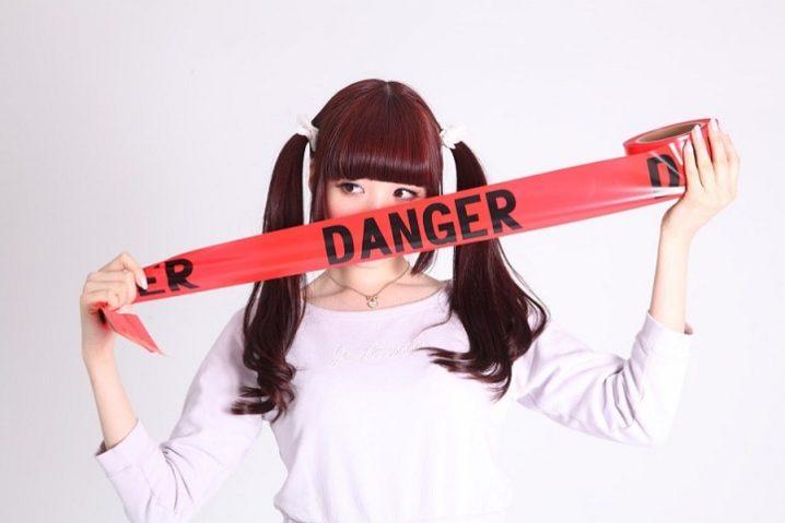 チャットレディに危険を感じている女性の画像